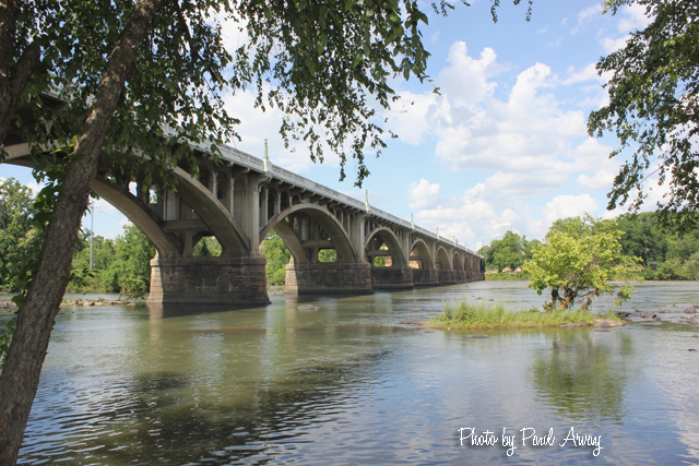 The Gervais Street Bridge - As Viewed from the West Columbia River Walk on the West Side of the Congaree River