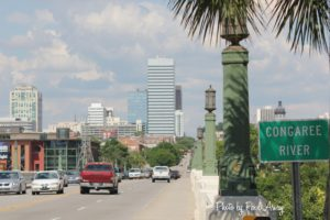 The Gervais Street Bridge - Traffic In and Out of Columbia, SC from West Columbia